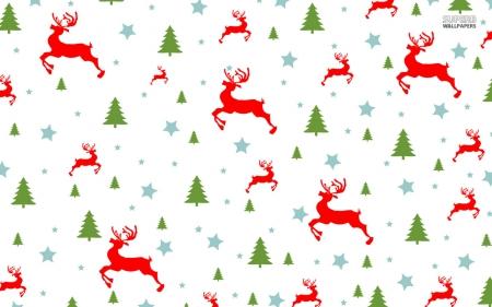 Christmas Tree Pattern.Christmas Pattern Christmas Tree And Reindeer Fantasy