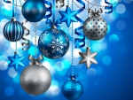 Blue And Silver Ornaments
