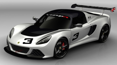 Lotus Exige V6 Cup R - side view, Lotus, grey background, automobile, vehicles, Lotus Exige V6 Cup R