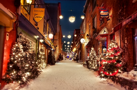 Christmas City.Christmas City Houses Architecture Background Wallpapers