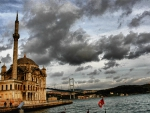 mosque on a bay in istanbul