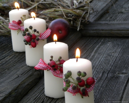 Still Life with Candles - Christmas, Photography, Candles, Light