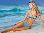 Beautiful Blue Bikini Blonde