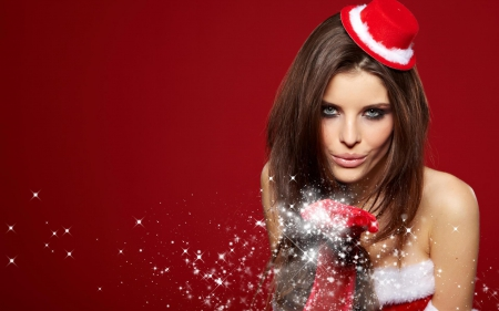 Christmas Girl - Christmas, red, girl, people