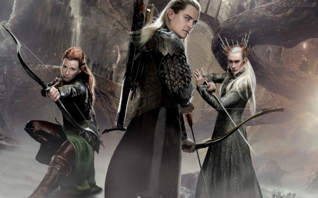 Legolas Tauriel And Thranduil From The Movie Hobbit Desolation Of Smaug