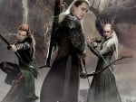 Legolas, Tauriel and Thranduil from the movie The Hobbit the desolation of Smaug