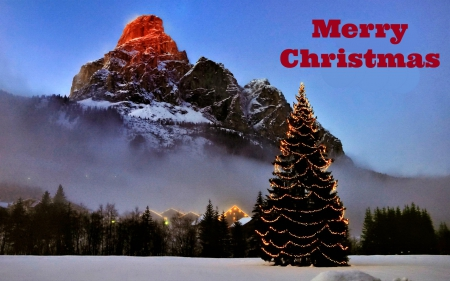 merry christmas mountains nature background wallpapers on desktop nexus image 1642160 - Christmas Mountain