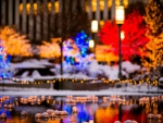 Bokeh winter lights