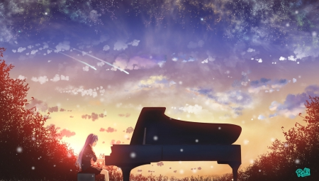 Playing Piano Other Anime Background Wallpapers On Desktop Nexus Image 1642559