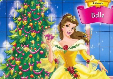 Belle At Christmas Beauty And The Beast Disney Cartoon Jpg 450x315 Princess