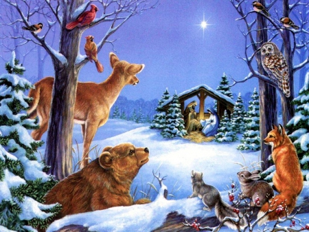 animals christmas other abstract background wallpapers on
