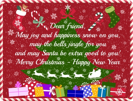 Merry Christmas My Friend.Merry Christmas Dear Friends Collages