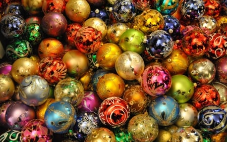 Christmas - pretty, colorful, background, beautiful, cold, photography, nice, photo, lovely, holiday, christmas, decoration, new year, winter, happy, merry christmas, balls, snow