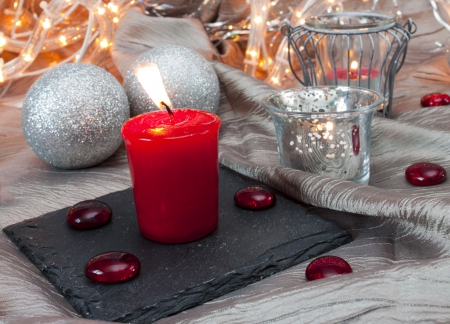 Christmas Candles - merry christmas, balls, christmas, magic christmas, christmas light, christmas candles, xmas, candles