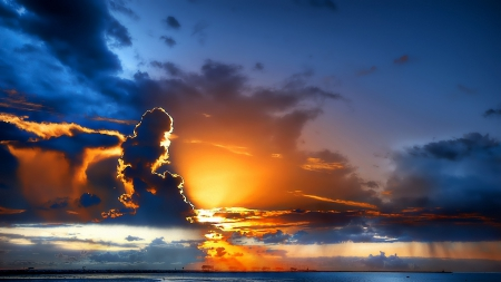 Glorious cloudy sunset hdr beaches nature background wallpapers glorious cloudy sunset hdr altavistaventures Images