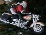 Santa Harley Ornament