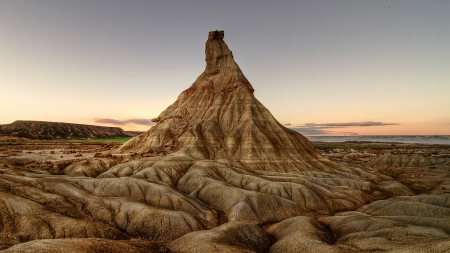 rock mountain in the badlands hdr