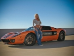 Ford GT and blonde supermodel