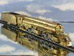 SP 2-8-8-4 brass steam locomotive collectible