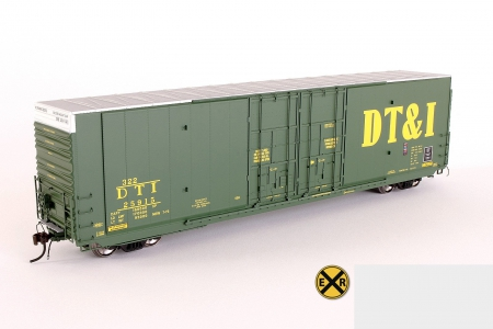 DT&I Greenville 60' HO scale model train box-car - railroad, toy, collectible, train