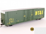 DT&I Greenville 60' HO scale model train box-car