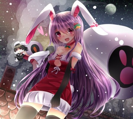 Christmas bunny other anime background wallpapers on - Winter anime girl wallpaper ...