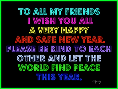 ♥ Happy New Year To All My Friends ♥