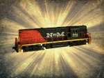 N Scale C420 Locomotive #201 toy collectible