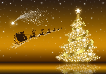 Golden Christmas Eve 3d And Cg Abstract Background