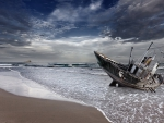 ship wreck on a beach