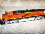 BNSF diesel locomotive engine collectible toy