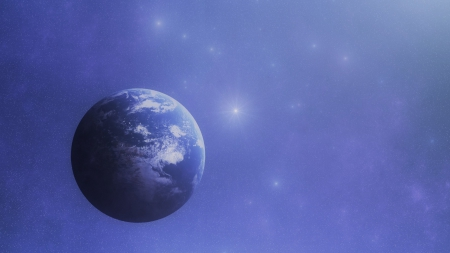 Beautiful Blue World - blue earth, blue world, Beautiful Blue planet, blue planet, Beautiful Blue World