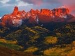 chimney rock at dusk colorado