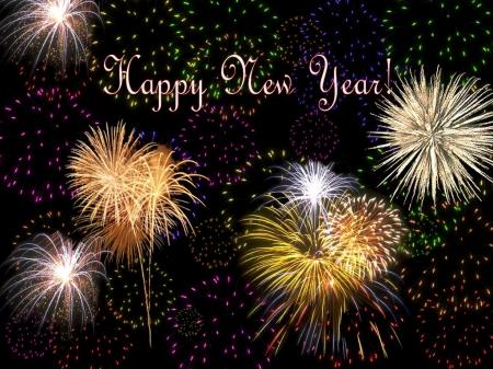 Happy New Year Celebration Fireworks Happy New Year Midnight