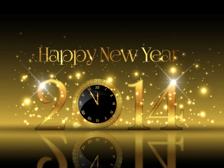 Happy new year - stars, lovely, cheers, holiday, 2014, beautiful, happy new year