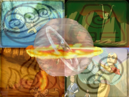 Avatar:- Four Elements Bender - fire, water, stone, Avatar, air, aang, the last airbender, airbender