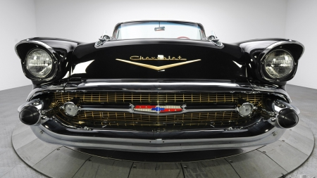 chevrolet convertible - vehicle, art, supercars, customized, bel air, old, artwork, concept, wallpaper, chevrolet, car, convertible, muscle car, vintage, fast