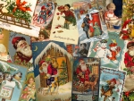 Victorian Christmas Collage