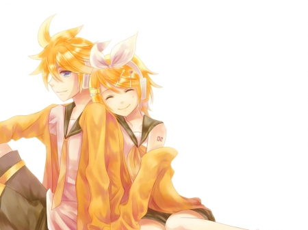 Len X Rin - vocaloid, len, blonde, animeanime boy, anime giel, kawaii, rin, yelllow, anime, love, kagamine