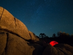 stars over campers in joshua tree california
