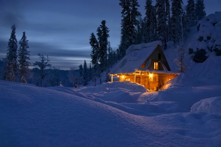 Winter Cottage Winter Amp Nature Background Wallpapers On
