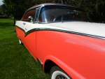 1956 Victoria Fiesta Red and Colonial White