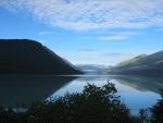 Alaska mountain and lake view