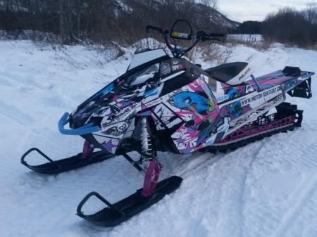 Polaris Pro RMK 800 - snowmobile, power, thrill, ride