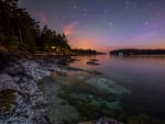 stars over galiano island in british columbia