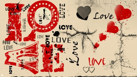 love grunge collages amp abstract background wallpapers on