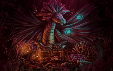 Dragons Treasure Fantasy Abstract Background Wallpapers On