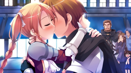 Kiss - witch, game cg, visual novel, kiss