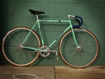 Bianchi bicycle Italy hand-made green in color
