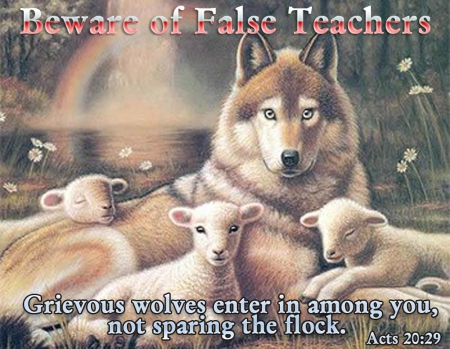 False - among, lambs, wolf, controls